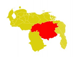 Mapa Venezuela-bolivar