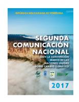 Segunda Comunicación sobre Cambio Climático I