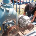 Aspecto de la colocacion en planta aguas servidas Payara