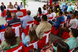 Los firmantes explicaron los alcances del acuerdo. (Foto / Harrison Ruíz)