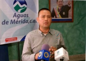 El presidente de Aguas de Mérida, Omar Gutiérrez.