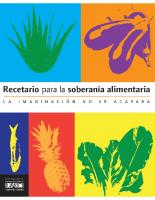 Recetario para la soberania alimentaria