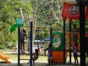 Niños en el area recreativa
